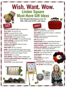 A few of the great gift options at Linden Square!